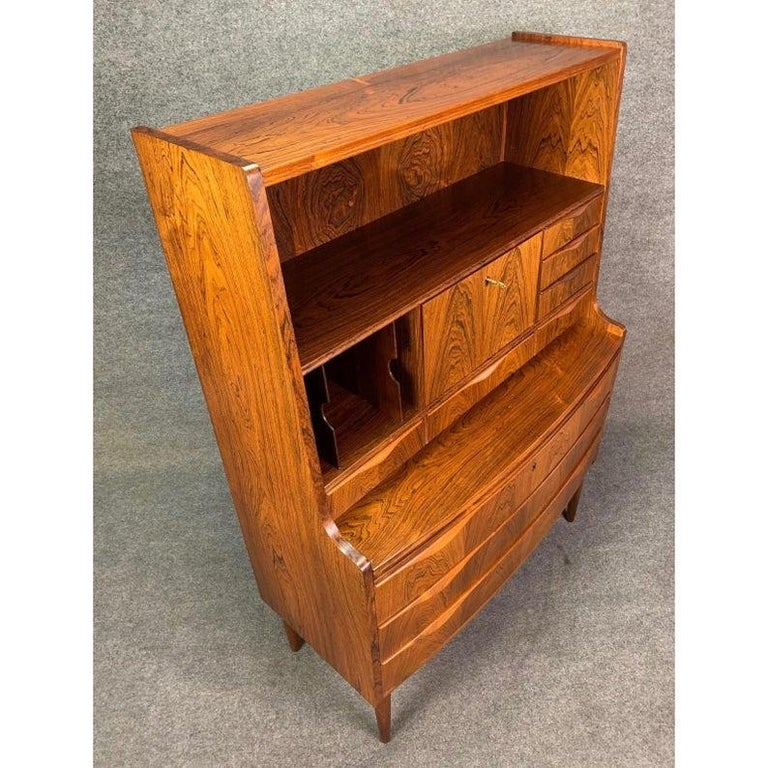 Woodwork Vintage Danish Modern Rosewood Secretary Desk Attributed to Erling Torvitz