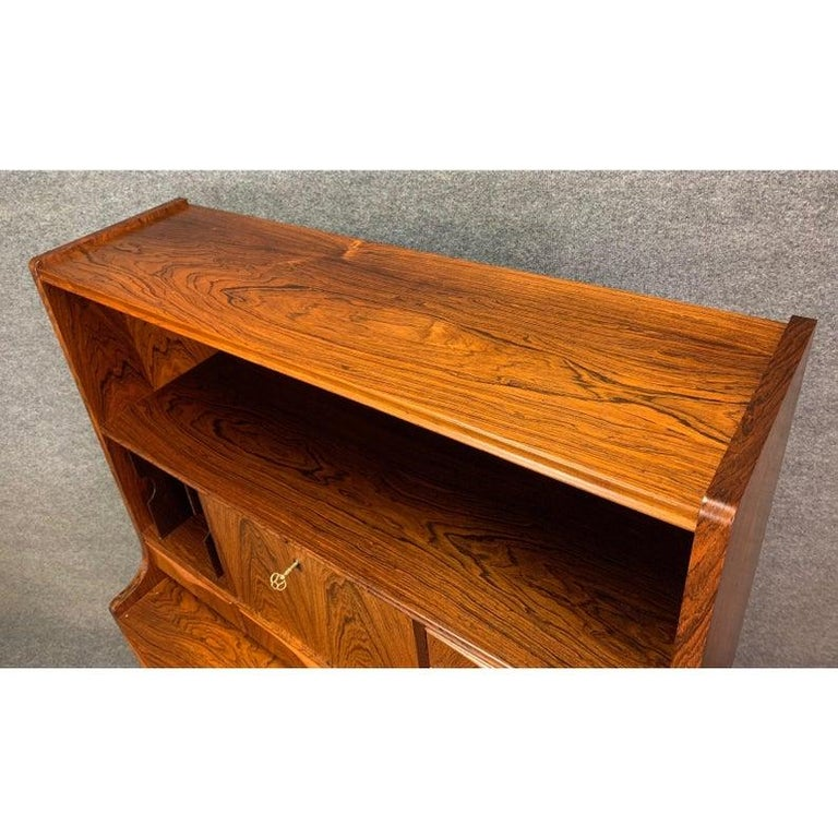 Mid-20th Century Vintage Danish Modern Rosewood Secretary Desk Attributed to Erling Torvitz