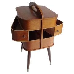 Vintage Danish Modern Storage Box with Drawers, Teak Plywood, 1960s