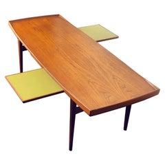 Vintage Danish Modern Teak Coffee Table by Alf Svensson, circa 1960s