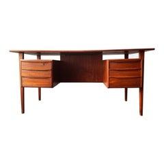 Vintage Danish Modern Teak Desk by Peter Lovig Nielsen, circa 1960s