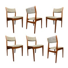 Vintage Danish Modern Teak Dining Chairs by Dixie