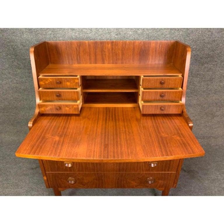 Woodwork Vintage Danish Modern Teak Secretary Desk in the Manner of Kai Kristiansen For Sale