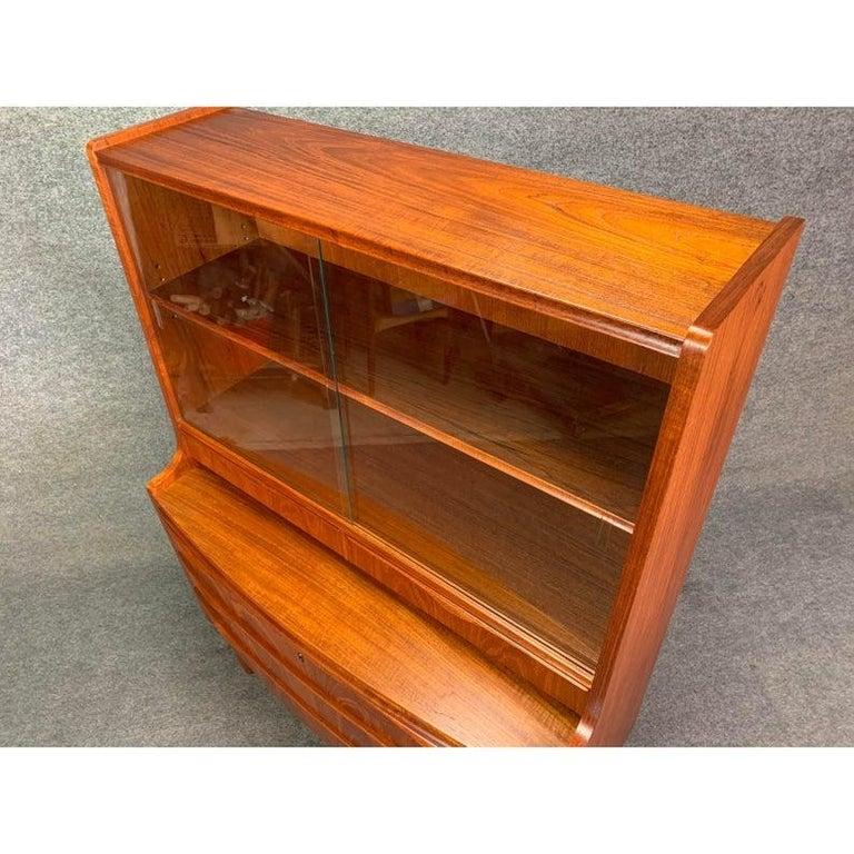 Woodwork Vintage Danish Modern Teak Secretary in the Manner or Erling Torvitz For Sale