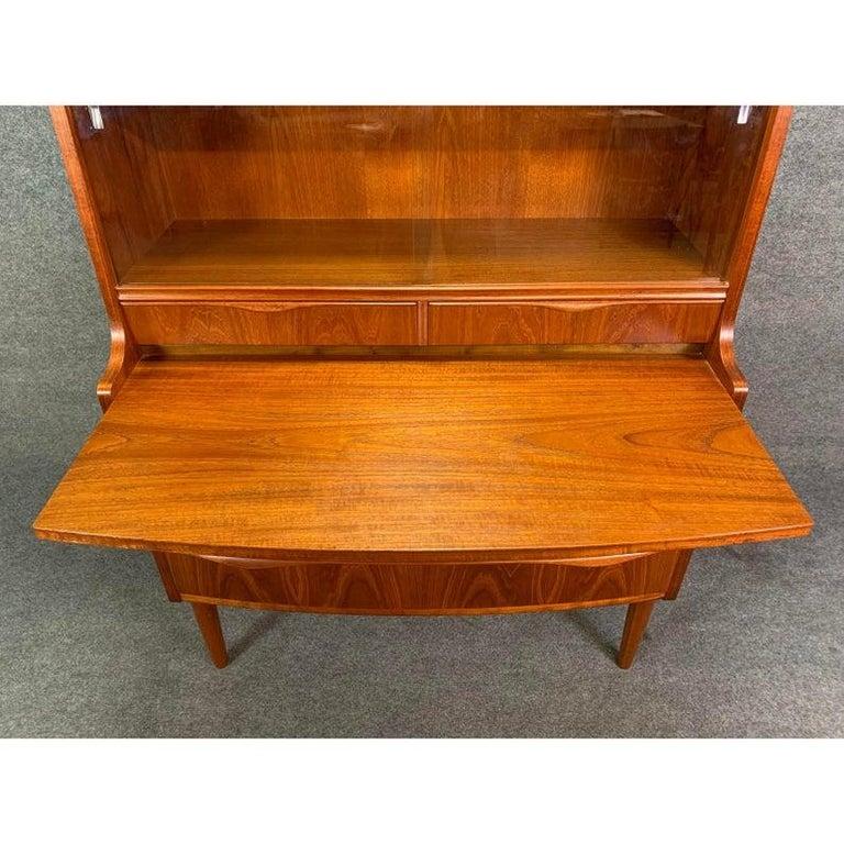 Vintage Danish Modern Teak Secretary in the Manner or Erling Torvitz For Sale 2