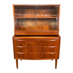 Vintage Danish Modern Teak Secretary in the Manner or Erling Torvitz