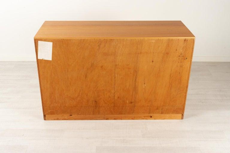 Vintage Danish Oak Cabinet with Tambour Doors, 1950s For Sale 13