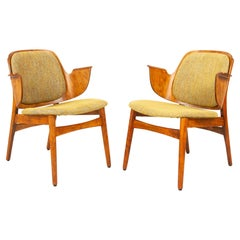 Vintage Danish Pair of Armchairs by Hans Olsen for Bramin, 1960s