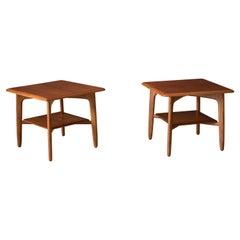 Vintage Danish Pair of Teak End Tables by Svend A. Madsen