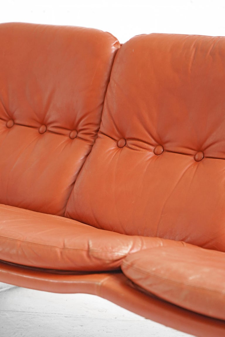 Vintage Danish Palma Sofa by Werner Langenfeld for ESA For Sale 7