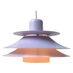 Vintage Danish Pink Pendant Lamp from Jeka, 1970s