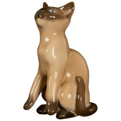 Vintage Danish Porcelain Figurine Siamese Cat by Bing & Grøndahl