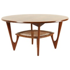 Vintage Danish Rosewood Coffee Table by Kurt Østervig for Jason Møbler, 1950s