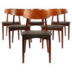 Vintage Danish Rosewood Dining Chairs by Harry Østergaard, 1960s