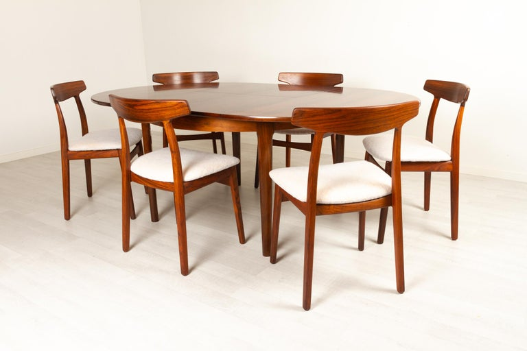 Mid-Century Modern Vintage Danish Rosewood Dining Room Set, 1960s