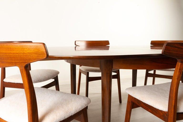 Mid-20th Century Vintage Danish Rosewood Dining Room Set, 1960s