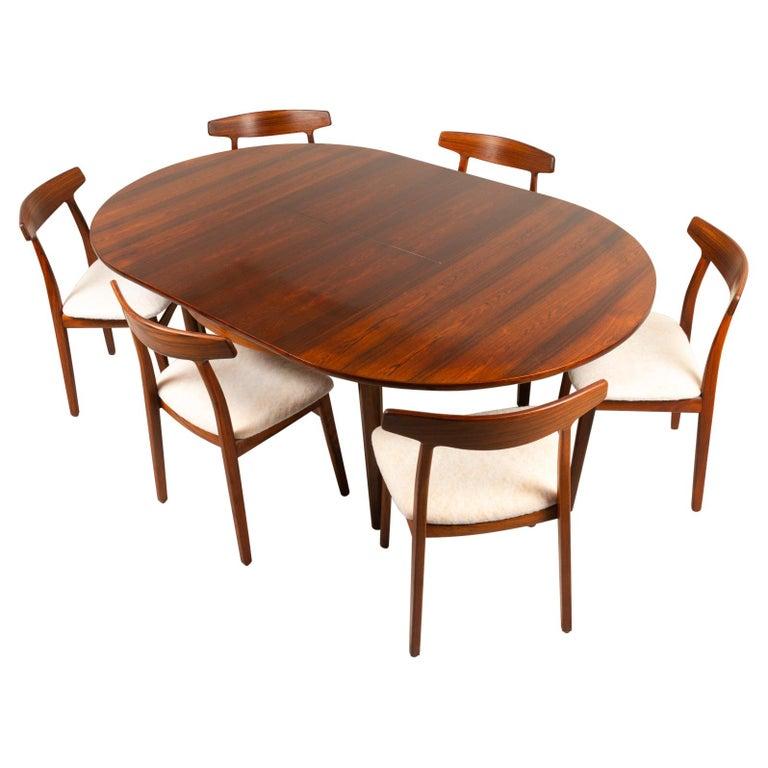 Vintage Danish Rosewood Dining Room Set, 1960s