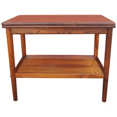 Vintage Danish Rosewood Flip-top Tea Table