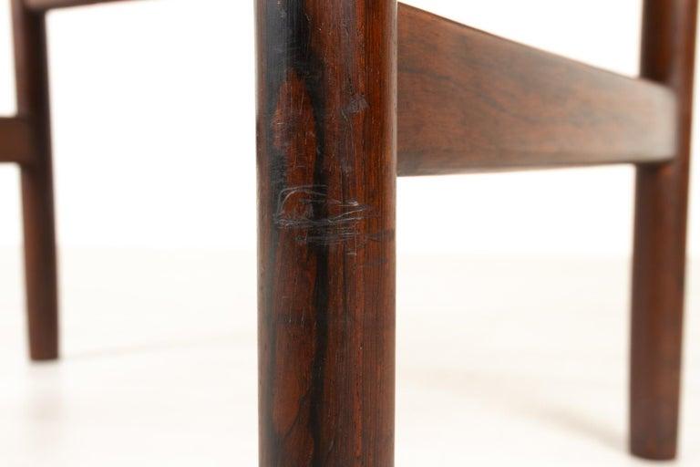 Vintage Danish Rosewood Stool by Spøttrup, 1960s For Sale 9