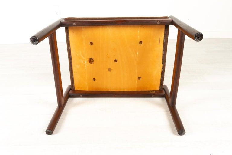 Vintage Danish Rosewood Stool by Spøttrup, 1960s For Sale 13