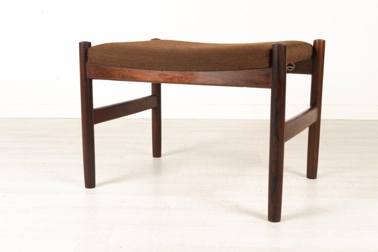 Mid-Century Modern Vintage Danish Rosewood Stool by Spøttrup, 1960s For Sale