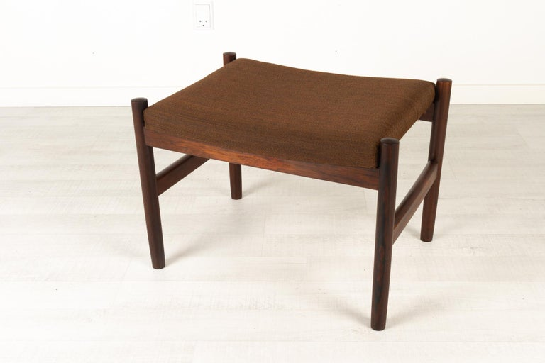 Vintage Danish Rosewood Stool by Spøttrup, 1960s In Good Condition For Sale In Nibe, Nordjylland