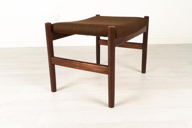 Mid-20th Century Vintage Danish Rosewood Stool by Spøttrup, 1960s For Sale