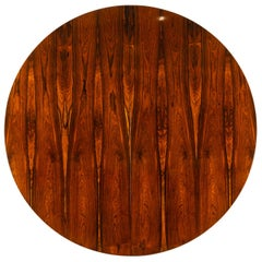 Vintage Danish Round Rosewood Dining Table by Harry Østergaard, 1960s