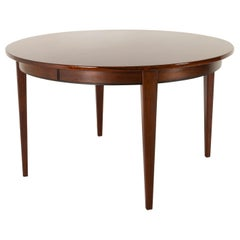 Vintage Danish Round Rosewood Dining Table Model 55 by Omann Jun, 1960s