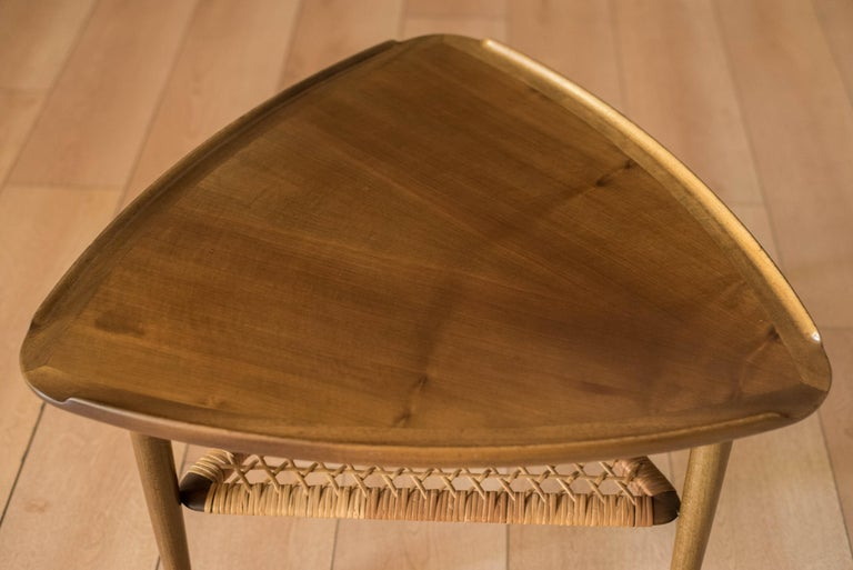 Mid-20th Century Vintage Danish Selig Triangle End Table by Poul Jensen For Sale