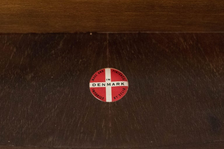 Vintage Danish Selig Triangle End Table by Poul Jensen For Sale 2