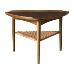 Vintage Danish Selig Triangle End Table by Poul Jensen