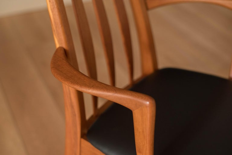 Mid-20th Century Vintage Danish Set of Six Teak Eva Dining Chairs by Niels Koefoed For Sale