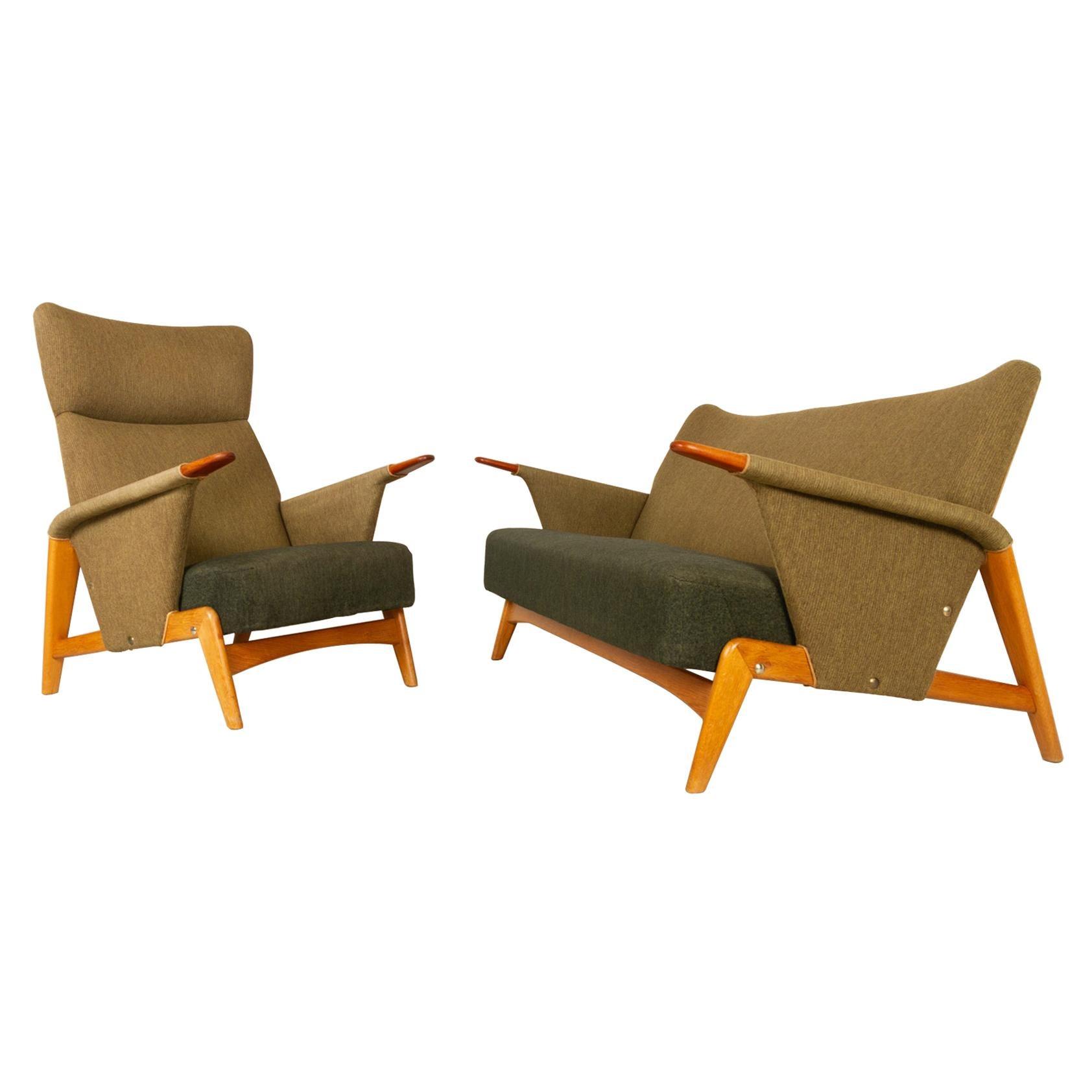 Vintage Danish Sofa Set by Arne Hovmand-Olsen, 1950s