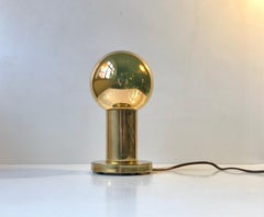 Vintage Danish Spy-Ball Table Lamp in Brass from Frimann, 1970s