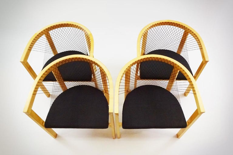 Scandinavian Modern Vintage Danish String Chairs by Niels Jørgen Haugesen for Tranekaer Furniture For Sale