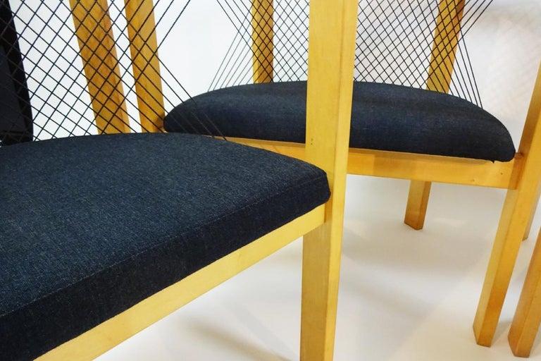 Beech Vintage Danish String Chairs by Niels Jørgen Haugesen for Tranekaer Furniture For Sale