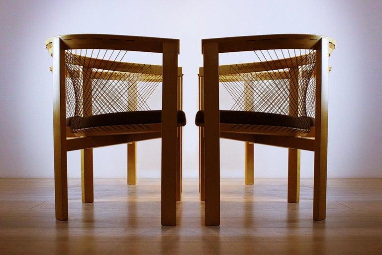 Vintage Danish String Chairs by Niels Jørgen Haugesen for Tranekaer Furniture For Sale 2