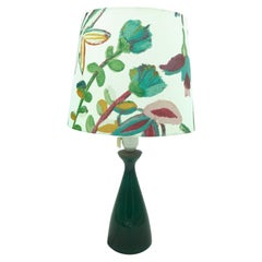 Vintage Danish Table Lamp from Kastrup Glass for Holmegaard
