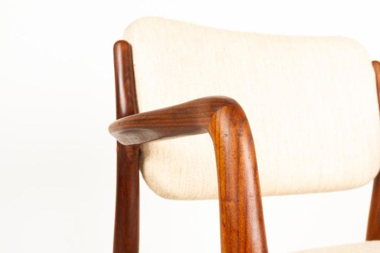 Vintage Danish Teak Armchair, 1950s For Sale 5