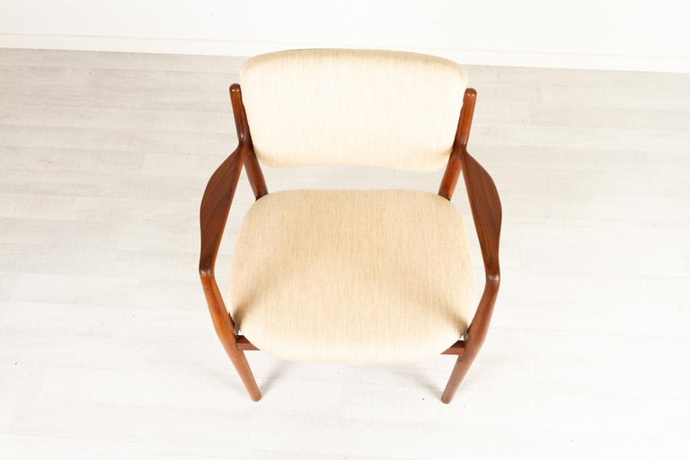 Vintage Danish Teak Armchair 1950s For Sale 5