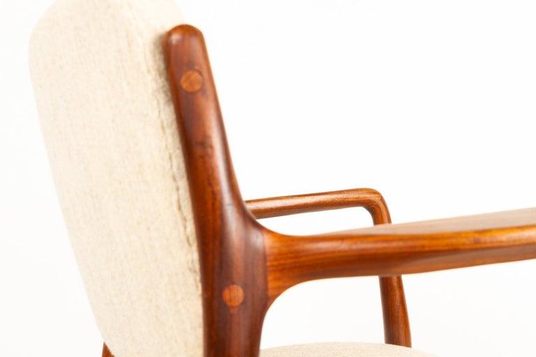 Vintage Danish Teak Armchair, 1950s For Sale 6