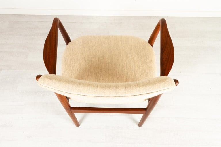 Vintage Danish Teak Armchair 1950s For Sale 6