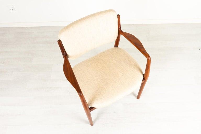 Vintage Danish Teak Armchair, 1950s For Sale 8