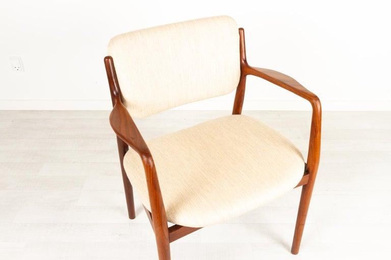 Vintage Danish Teak Armchair, 1950s For Sale 9