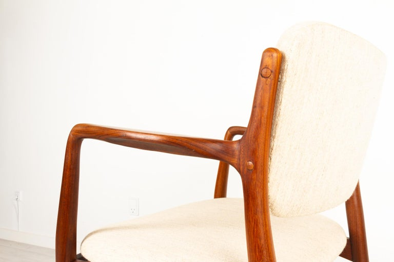 Vintage Danish Teak Armchair 1950s For Sale 9