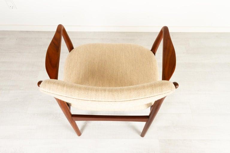 Vintage Danish Teak Armchair, 1950s For Sale 10