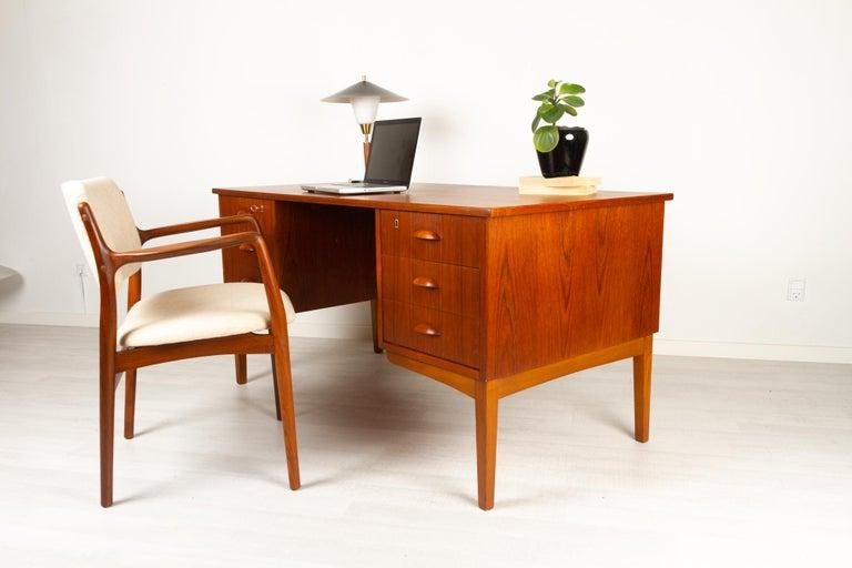 Vintage Danish Teak Armchair 1950s For Sale 15