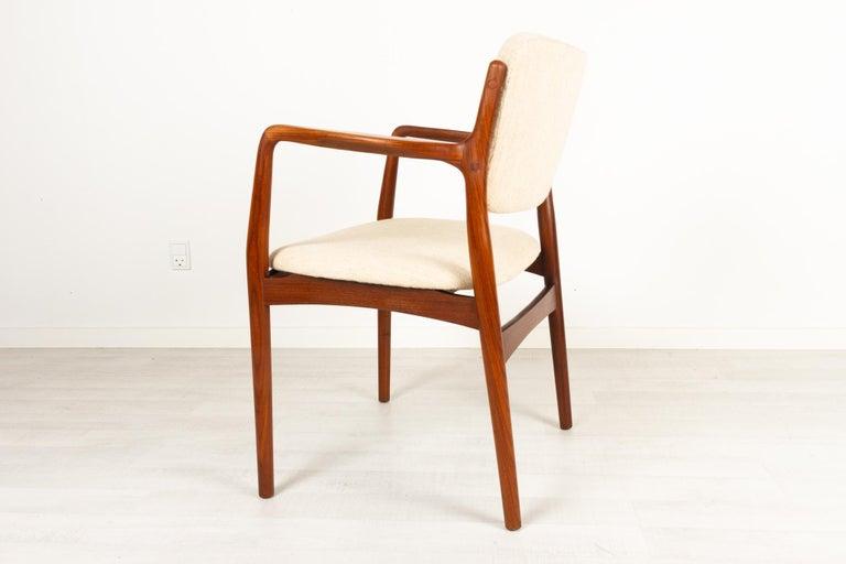 Mid-Century Modern Vintage Danish Teak Armchair, 1950s For Sale
