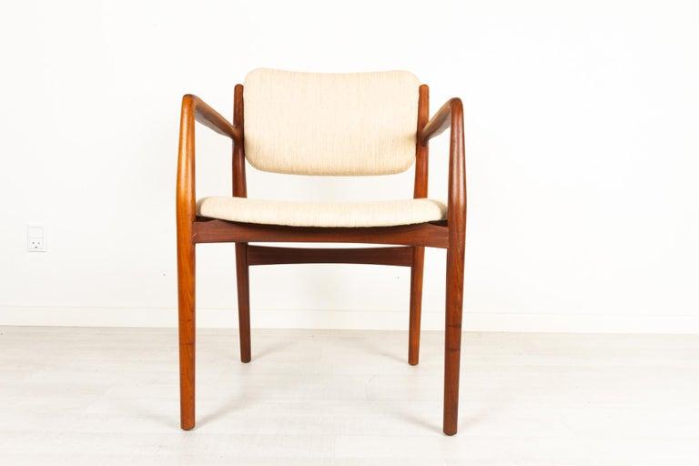 Mid-Century Modern Vintage Danish Teak Armchair 1950s For Sale